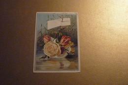 Grand Chromo Barque En Papier Remplie De Roses Rouges/paille Sur Une Rivière Bordée De Roseaux - Env. 12 Cm X 16,5 Cm. - Unclassified