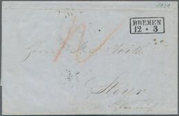 Bremen - Besonderheiten: 1851, FORWARDER - Teilbezahlter Brief Mit Privatem Handelsschiff Nach Breme - Bremen