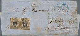Hannover - Marken Und Briefe: 1858, 1/10 Th./3 Sgr. Schwarz Schwarz/orangegelb, Farbfrisches Waagere - Hanovre