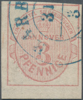 Hannover - Marken Und Briefe: 1859, 3 Pfg. Rosa, Sehr Breitrandiges Exemplar Vom Unteren Bogenrand, - Hanovre