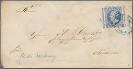 Hannover - Marken Und Briefe: 1859, 2 Groschen Blau, Allseits Riesenrandig, Links Bzw. Rechts Mit Gr - Hanovre