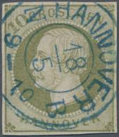 Hannover - Marken Und Briefe: 1861, Freimarke König Georg V. 10 Groschen Dunkelgrünlicholiv, Sauber - Hanovre