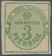 Hannover - Marken Und Briefe: 1963, 3 Pfg. Olivgrün, Gut Gerandet, Ungebraucht Mit Restgummi, Gepr. - Hanovre