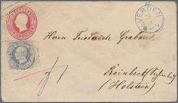 Hannover - Marken Und Briefe: 1864, 2 Gr. Ultramarin, Rechtes Randstück Mit Reihenzähler 9, Mit Pati - Hanovre