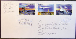Guinea-Bissau - Registered Cover 2018 Concorde Paris Eiffel Tower - Concorde