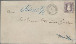 Mecklenburg-Strelitz - Marken Und Briefe: 1864, 1 Sch. Grauviolett, Als Portogerechte Einzelfrankatu - Mecklenburg-Strelitz