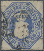 Mecklenburg-Strelitz - Marken Und Briefe: 1864, Stierkopf 2 Sgr. Dunkelgrauultramarin, Gebraucht Mit - Mecklenburg-Strelitz