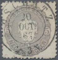 """Sachsen - Marken Und Briefe: 1867, 5 Ngr. Wappen Rötlichgrau Mit Doppelkreisstempel """"Oschatz 20 Oct. - Sachsen"""