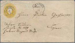 Sachsen - Ganzsachen: 1862, 3 Ngr. Johann Mit Zusätzlichem Blinddruck Des Wertstempels Vorne Rechts - Sachsen