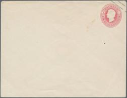 Sachsen - Ganzsachen: 1863, 1 Ngr. Rosa Johann Großformat, Ungebraucht, Bildseitig Mit Ganz Minimale - Sachsen