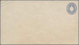 Sachsen - Ganzsachen: 1863/65. 2 Ngr. Wappen Mit Zusätzlichem Blinddruck Des Wertstempels Vorn Links - Sachsen