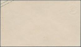 Sachsen - Ganzsachen: 1863/65. 2 Ngr. Wappen Mit Blinddruck Des Wertstempels (nur Der Überdruck In G - Sachsen