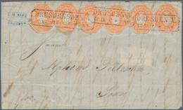 Sachsen - Ganzsachenausschnitte: 1863, ½ Ngr. Wappen Ganzsachenausschnitt Achteckig Geschnitten, 6 E - Sachsen