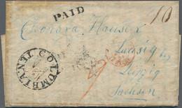Sachsen - Besonderheiten: 1851, Teilbezahlter Brief Per Direct Mail Nach F Und Weiter Nach D (Leipzi - Sachsen