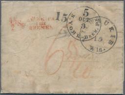 Sachsen - Besonderheiten: 1854, Unbezahlter Brief Per Bremen Convention Mail (II. Convention Effekti - Sachsen