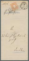 """Sachsen - Besonderheiten: 1867, Sachsen ½ Ngr, Sehr Farbfrisch Und Vollzähnig Mit Vollem Ra2 """"DRESDE - Sachsen"""