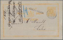 Württemberg - Stempel: GOEPPINGEN 1874, Seltener Fahrpost-K1 Aus Der Kreuzerzeit Als Aufgabestempel - Wurtemberg
