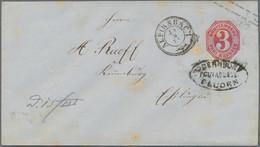 """Württemberg - Postablagen: 1874, """"FLUORN-OBERNDORF"""" Postablagestempel Und DKr ALPIRSBACH Auf 3 Kreuz - Wurtemberg"""
