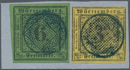 "Württemberg - Stumme Stempel: 1851, ""BACKNANG"" Stummer Blauer K1-SIEBSTEMPEL Selten So Klar Und Zent - Wurtemberg"