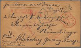 Württemberg - Besonderheiten: 1850, Teilbezahlter Brief Per Bremen Convention Mail (eff. 20.3.48) Na - Wurtemberg
