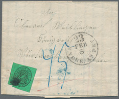 Württemberg - Besonderheiten: 1853, INCOMING MAIL - Boyds City Express, 2 C. Schwarz Auf Grün, Sehr - Wurtemberg