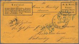 Württemberg - Besonderheiten: 1863, Unbezahlter Brief (Württemberg Konsulatpost) Per Hamburg Convent - Wurtemberg