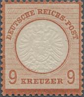 Deutsches Reich - Brustschild: 1872, Großer Schild 9 Kr. Rötlichbraun, Ungebraucht Mit Originalgummi - Neufs
