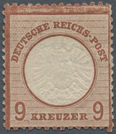 Deutsches Reich - Brustschild: 1872, Großer Schild 9 Kr. Rotbraun, Ungebraucht Mit Originalgummi Mit - Neufs