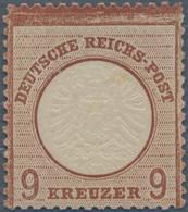 Deutsches Reich - Brustschild: 1872, Großer Schild 9 Kr. Mittelrotbraun, Nuance Lilabraun, Ungebrauc - Neufs