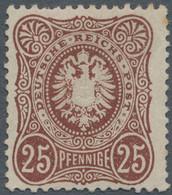 Deutsches Reich - Pfennige: 1875, 25 Pfge. Rötlichbraun, Befindet Sich In Ungebrauchter Erhaltung Un - Unused Stamps
