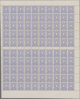 Deutsches Reich - Pfennig: 1880, 20 Pfg. Im Postfrischen ORIGINALBOGEN Mit 10 Zwischenstegpaaren, 4 - Unused Stamps