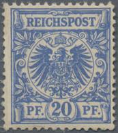 Deutsches Reich - Krone / Adler: 1889, 20 Pf. Ultramarin Tadellos Postfrisch In Der Für Diese Auflag - Unused Stamps