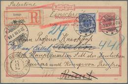 Deutsches Reich - Krone / Adler: 1898, 20 Pf Als Beifrankatur Auf 10 Pf GSK Als Seltene Eingeschrieb - Sin Clasificación