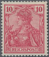 Deutsches Reich - Germania: 1900, 10 Pf. (dunkel)rotkarmin Tadellos Ungebraucht In Guter Zähnung Und - Unused Stamps
