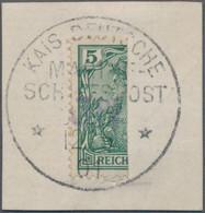 """Deutsches Reich - Germania: 1901, 3 PF Auf Halbierter 5 Pfg. Germania, Vineta-Provisorium Als Sog. """" - Sin Clasificación"""