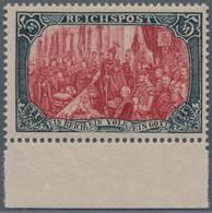 Deutsches Reich - Germania: 1900, 5 M Reichspost Grünschwarz/bräunlichkarmin, Type II, Ist Einen Ori - Unused Stamps