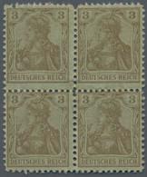 Deutsches Reich - Germania: 1902/1905, 3 Pfg. Germania, Andruckprobe In Dunkelockerbraun Auf Hellgrü - Unused Stamps