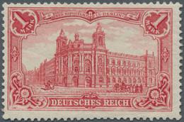Deutsches Reich - Germania: 1902, Deutsches Reich, 1 M. Karminrot, Ungebraucht, Entfalzt Sowie Klein - Unused Stamps