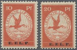 Deutsches Reich - Germania: 1912, Flugpost Rhein/Main, 10 Pfg. Und 20 Pfg. E.EL.P., Zwei Farbfrische - Unused Stamps
