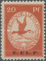 Deutsches Reich - Germania: 1912, Flugpost E.EL.P., 20 Pfg. Postfrisch, Mi. 450,- - Unused Stamps