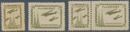 Deutsches Reich - Halbamtliche Flugmarken: 1925, Regensburger Osterflugtage, 2 Werte Sowie Zusammend - Airmail