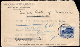 South Africa - 1936 - Fragment - Front - Letter - Sent To USA - A1RR2 - Other
