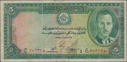 Afghanistan: Pair Of The 5 Afghanis SH1318 (1939), P.22, Both Still In A Nice Original Shape, One Wi - Afghanistan