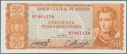 Bolivia / Bolivien: Banco Central De Bolivia 50 Pesos Bolivianos 1962, P.162, Misprint With Two Diff - Bolivia