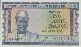 Guinea: Banque Centrale De La République De Guinée 500 Francs 1960, P.14, Optically Appears Nice Wit - Guinea