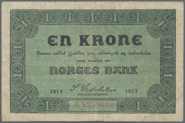 Norway / Norwegen: Norges Bank, Set With 11 Banknotes Containing 1 Krone 1917 (P.13, F+), 1 Krone 19 - Norway