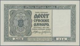 Serbia / Serbien: Serbian National Bank 10 Dinara 1941, P.22 In Perfect UNC Condition. - Serbia