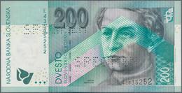 Slovakia / Slovakei: 200 Korun 2002 SPECIMEN, P.41s With Regular Serial Number E43535252 And Two Tim - Slovacchia