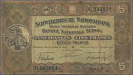 Switzerland / Schweiz: Schweizerische Nationalbank 5 Franken 1914, P.11b, Still Nice With Margin Spl - Switzerland