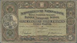 Switzerland / Schweiz: Schweizerische Nationalbank, Lot With 6 Banknotes, Containing 5 Franken 1921 - Switzerland
